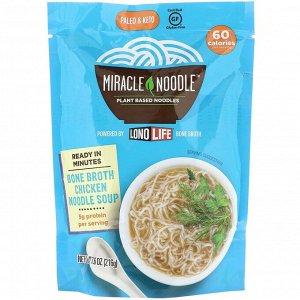 Miracle Noodle, Суп с лапшой на костном бульоне, куриный, 215 г (7,6 унции)