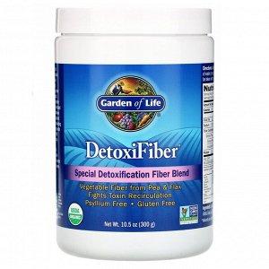 Garden of Life, DetoxiFiber, специальная смесь клетчатки для детоксикации, 300 г