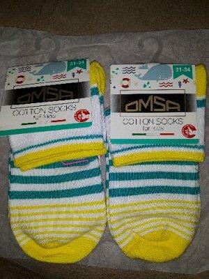 Носки укороченные Omsa в полоску хлопок