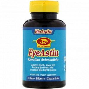 Nutrex Hawaii, BioAstin, EyeAstin, Hawaiian Astaxanthin, 6 mg, 60 Softgels