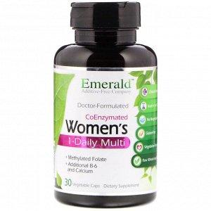 Emerald Laboratories, CoEnzymated Women's 1-Daily Multi, 30 растительных капсул