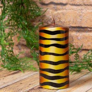 Декоративная свеча Тигровая 125*60 мм (Омский Свечной)
