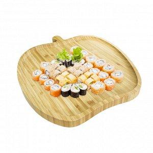 Менажница из бамбука / 27,5 x 25 x 1,5 см