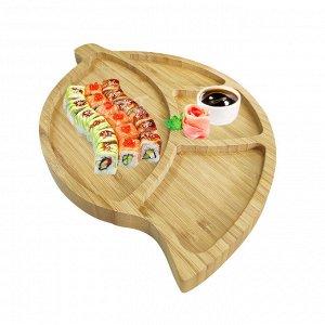 Менажница из бамбука / 35 x 23 x 2 см