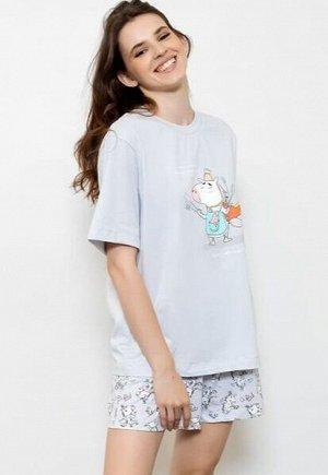 Комплект женский (футболка, шорты)