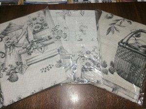 Набор  полотенец Рогожка Купон в пакете