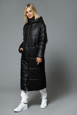 Пальто Пальто DI-LiA FASHION 512 черный  Состав: ПЭ-100%; Сезон: Осень-Зима Рост: 170  Пальто женское полуприлегающего силуэта из плащевой ткани, на подкладке, с отстегивающимся капюшоном. Воротник-с
