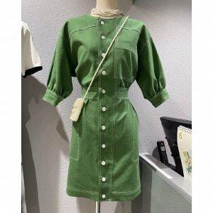 Женское платье в ретро-стиле, цвет зеленый