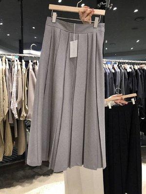 Женская длинная юбка, цвет серый