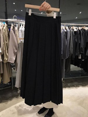 Женская длинная юбка, цвет черный