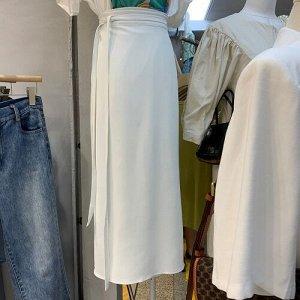 Женская длинная юбка, цвет белый