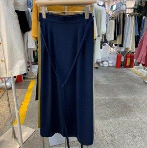 Женская длинная юбка, цвет синий