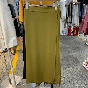 Женская длинная юбка, цвет зеленый