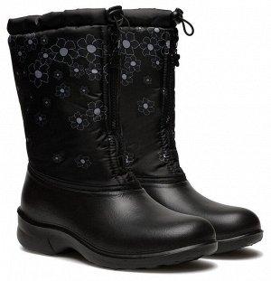 Сноубутсы Дюна, артикул 321/05, цвет черный, цветочный градиент