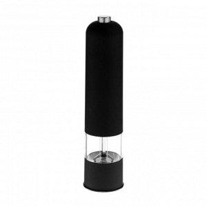 Мельница электрическая LuazON LET-001, пластик, от батареек, чёрная