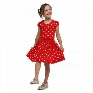 Платье Горох Красный
