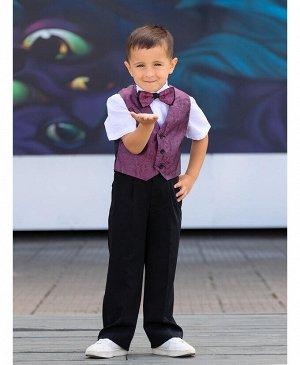 Комплект нарядный для мальчика Цвет: св.сер.+черный