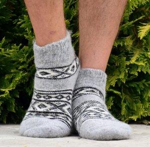 Короткие мужские шерстяные носки