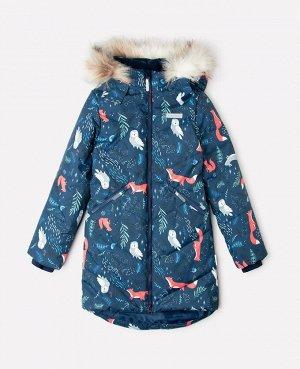 Пальто зимнее для девочки Crockid ВК 38067/н/4 ГР