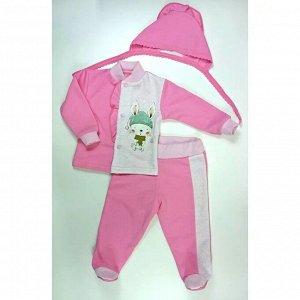 Комплект ясельный 0205/3 (розовый, березка)