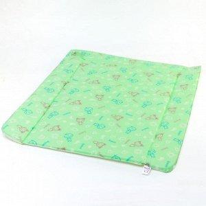Матрасик для пеленания со складными бортиками, 80х67 см.
