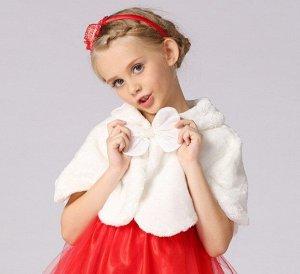 Детская накидка, цвет белый