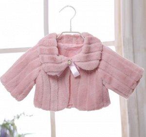 Детская накидка, цвет розовый