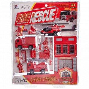 Игровой набор Junfa Пожарная станция, 2 машинки и вертолет59
