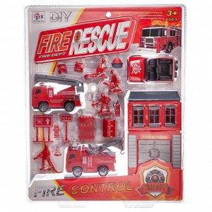 Игровой набор Junfa Пожарная станция, 3 машинки59
