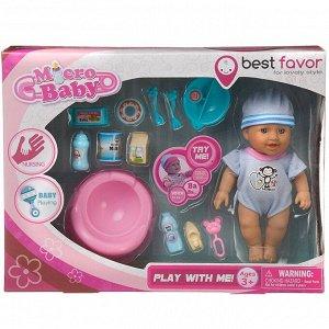 Игровой набор Junfa Пупс Micro Baby, 15 см, голубой41