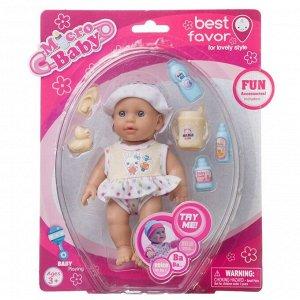 Игровой набор Junfa Пупс Micro Baby, в костюмчике, 15 см, девочка77