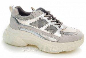 Кроссовки Страна производитель: Китай Размер женской обуви x: 36 Вид обуви: Кроссовки Пол: Женский Застежка: Шнуровка Цвет: Серый Материал верха: Натуральная кожа Материал подошвы: Резина Материал под