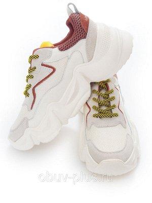 Кроссовки Страна производитель: Китай Размер женской обуви x: 36 Вид обуви: Кроссовки Пол: Женский Застежка: Шнуровка Цвет: Бежевый Материал верха: Натуральная кожа Материал подошвы: Резина Материал п