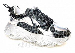 Кроссовки Страна производитель: Китай Размер женской обуви x: 35 Вид обуви: Кроссовки Пол: Женский Застежка: Шнуровка Цвет: Серебристый Материал верха: Натуральная кожа Материал подошвы: Резина Матери