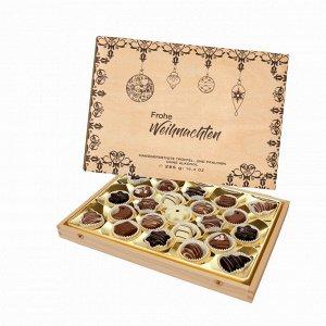 """Набор шоколадных конфет """"Счастливого Рождества!"""" Lauenstein, ассорти, 300 г"""