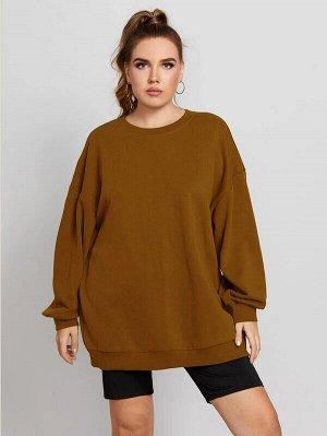 Однотонный пуловер Plus Size