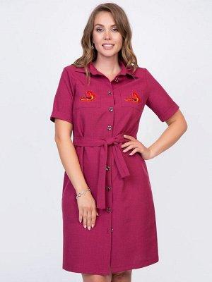 Платье Сидни (марсала)