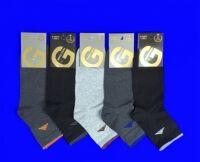 Золотая игла носки мужские укороченные спортивные  с лайкрой черные
