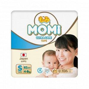 MOMI Ultra Care подгузники   S (4-8 кг). 82  шт