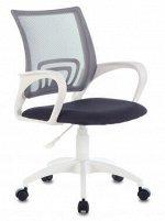 Кресло Бюрократ CH-W695NLT темно-серый TW-04 TW-12 сетка/ткань крестовина пластик пластик белый