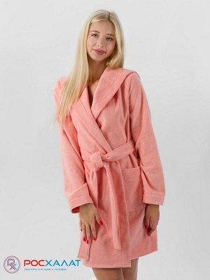 Махровый женский укороченный халат с капюшоном МЗ-01 (6)