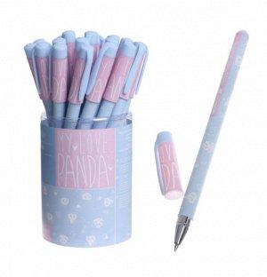 """Ручка шариковая HappyWrite """"Зефирные панды"""", 0,5 мм, синие чернила"""
