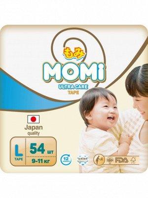 MOMI Ultra Care подгузники L (9-14 кг). 54  шт