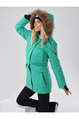 Женская куртка-парка Azimuth B 20681_57 Бирюза