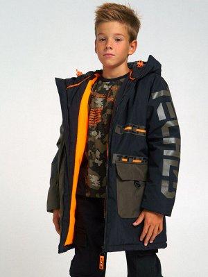 Куртка текстильная для мальчиков зеленый/черный