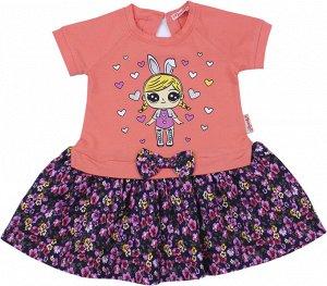 Платье для девочки коралловый
