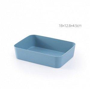 Ящик для хранения косметики и канцелярии, цвет синий