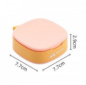 """Таблетница, надпись """"Pill Box"""",  цвет розовый/желтый"""
