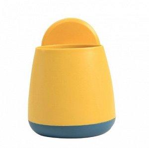 Органайзер для зубных щеток и канцелярии, цвет синий/желтый