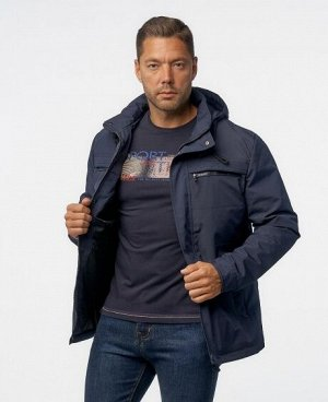 Куртка НОЧНОЙ СИНИЙ ЧЕРНЫЙ ТЕМНО-СИНИЙ Мужская куртка, имеет четыре нижних боковых кармана (два из которых на молниях), два нагрудных кармана на молниях, два внутренних кармана (один из них на молнии)